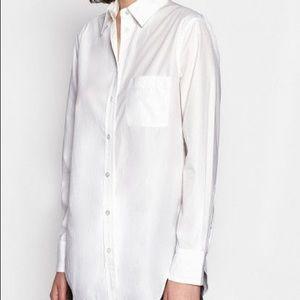 Equipment Kenton white cotton button down shirt s